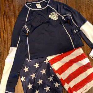 Gymboree boys swim suit rash guard shorts 10/12